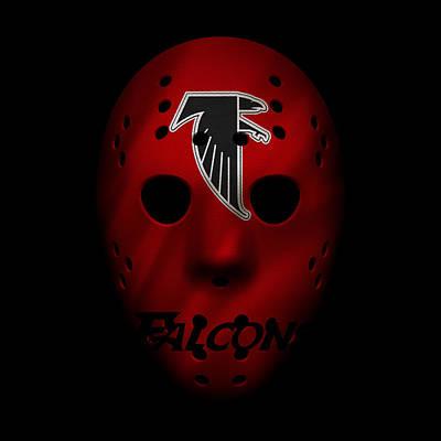 Photograph - Falcons War Mask 4 by Joe Hamilton