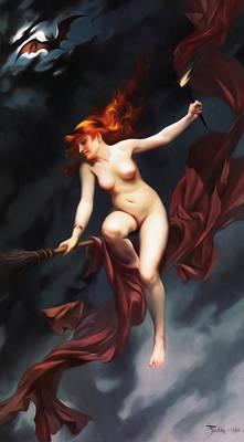 Falero Luis Ricardo The Witches Sabbath Art Print