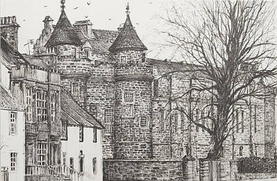 Castles Drawing - Falkland Palace by Vincent Alexander Booth