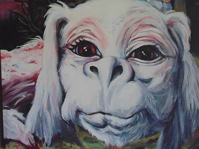 Neverending Story Painting - Falkor The Luckdragon by Dotti Hannum