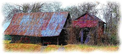 Photograph - Fall 2015 Barn 95_colored Pencil by Ericamaxine Price
