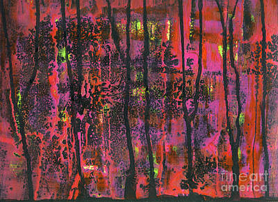 Mixed Media - Fall Aflame by Cyndi Lavin