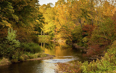 Photograph - Fall Along Potato Creek, Smethport, Pa by Cora Ahearn