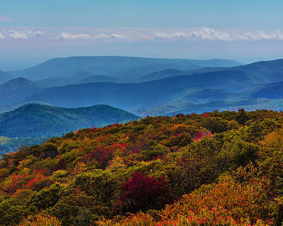 Photograph - Fall Along The Blue Ridge Mountains by Chris Coffee