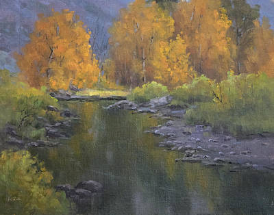 Fall Along The Poudre Art Print