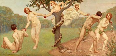 Kenyon Painting - Fall And Expulsion by Kenyon Cox