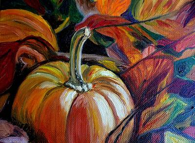 Painting - Fall And Pumpkins Go Together by Julie Brugh Riffey