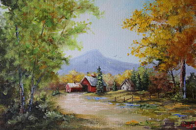 Painting - Fall Arrives At The Farm by Judy Bradley
