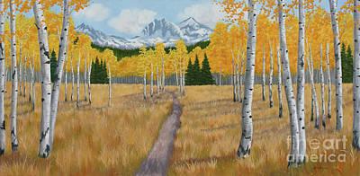Fall Aspen Meadow Original by Julie Peterson