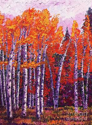 Painting - Fall Aspens by Eryn Tehan