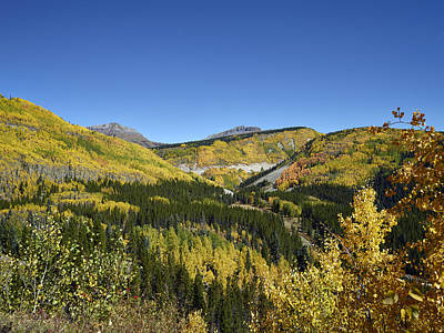 Photograph - Fall Aspens In San Juan County In Colorado by Carol M Highsmith