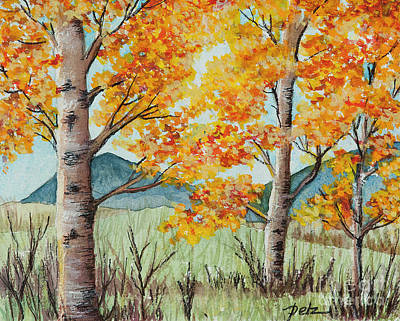 Painting - Fall Aspens by Pati Pelz