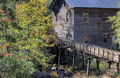Photograph - Fall At Bean's Mill by JC Findley