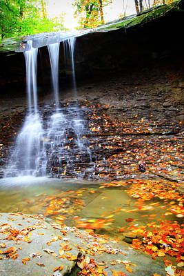 Photograph - Fall At Blue Hen Falls by Newman Artography