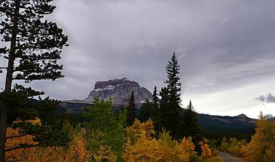 Photograph - Fall At Chief Mountain, Northside by Tracey Vivar