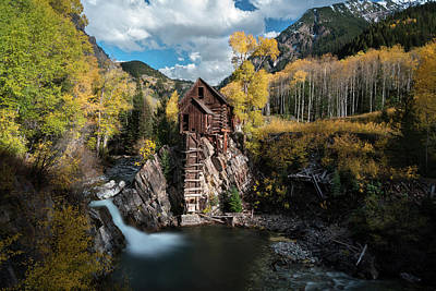 Fall At Crystal Mill Art Print