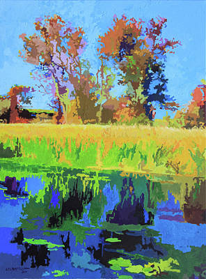 Painting - Fall At Depaul by John Lautermilch