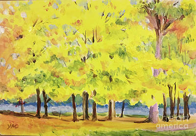 Painting - Fall At Dexter-huron Park by Yoshiko Mishina