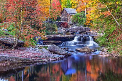 Photograph - Fall At Glade Creek Grist Mill by Mary Almond