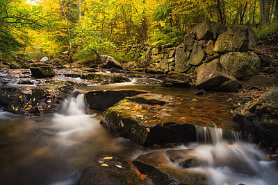 Photograph - Fall At Gunstock Brook by Robert Clifford