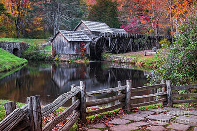 Photograph - Fall At Mabry Mill by Anthony Heflin