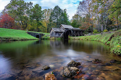 Photograph - Fall At Mabry Mill by Steve Hurt