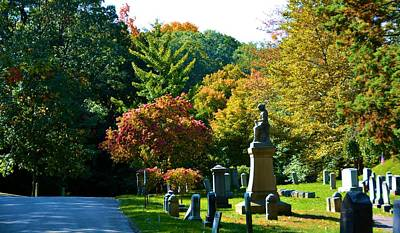 Fall At Mount Hope Cemetery 2 Art Print by Richard Jenkins
