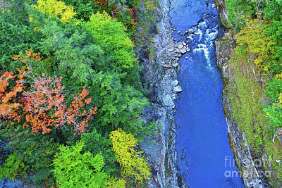 Photograph - Fall At Quechee Gorge Vermont by Third Eye Perspectives Photographic Fine Art