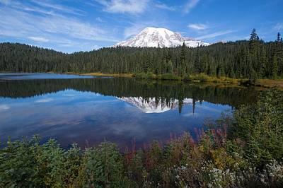 Photograph - Fall At Reflection Lakes by Lynn Hopwood