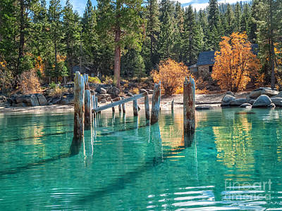 Tahoe Photograph - Fall At Skunk Harbor Lake Tahoe by Dianne Phelps