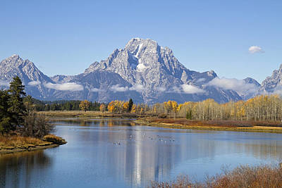 Photograph - Fall At Teton -1 by Shirley Mitchell