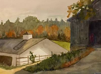 Painting - Fall At The Barn by Peggy Poppe