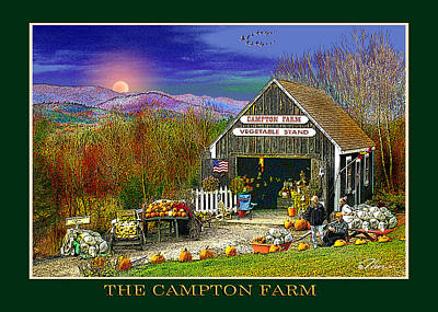 Photograph - Fall At The Campton Farm by Nancy Griswold