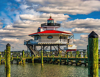 Photograph - Fall At The Choptank River Lighthouse by Nick Zelinsky
