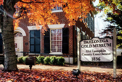 Golden Photograph - Fall At The Gold Museum by Greg Mimbs