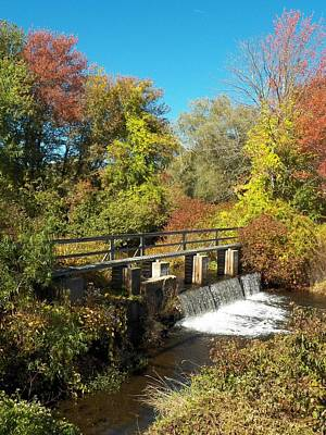 Photograph - Fall At The Old Mill Stream by Georgia Hamlin