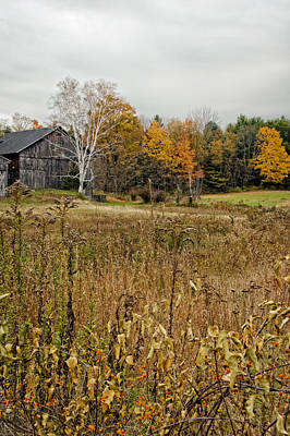 Rustic Photograph - Fall Barn Scene by Donna Doherty