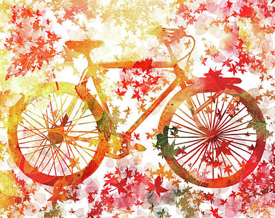 Painting - Fall Bicycle by Irina Sztukowski