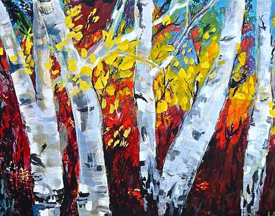 Photograph - Fall Birch Trees by Gregory Merlin Brown