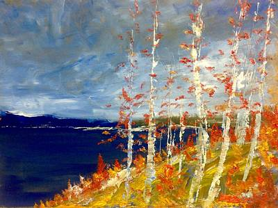 Painting - Fall Birches  by Desmond Raymond