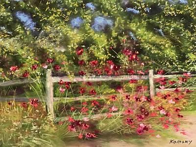 Fall Blooming Original by Julia Komsky