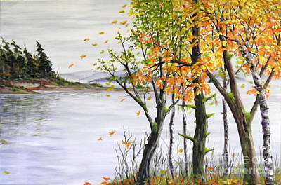 Painting - Fall Blows In by Ida Eriksen