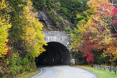 Photograph - Fall Blue Ridge Parkway @ Rough Ridge Tunnel  by Schwartz Nature Images