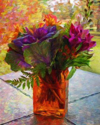 Painting - Fall Bouquet - Autumn Flowers by Rebecca Korpita