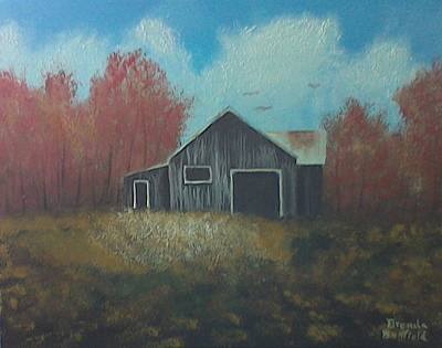 Painting - Autumn Barn by Brenda Bonfield