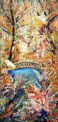 Painting - Fall Bridge by John Keaton