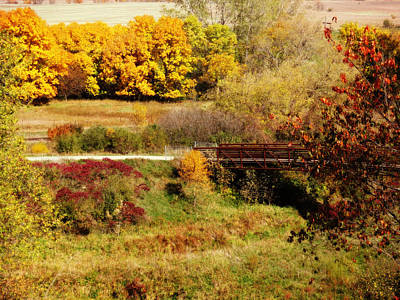 Photograph - Fall Bridge by Kyle West