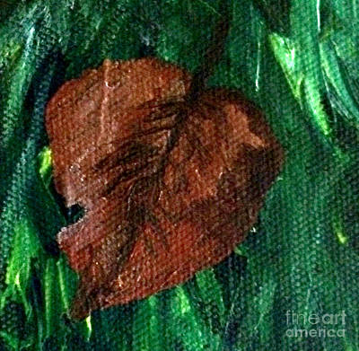 Painting - Fall Brown Leaf by Janelle Dey