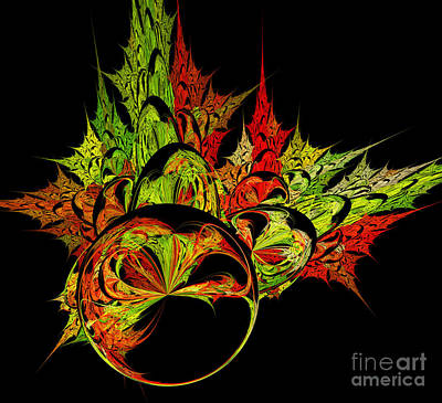 Digital Art - Fall Burst  Out by Ed Churchill