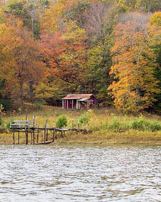 Photograph - Fall Cabin by Alan Raasch